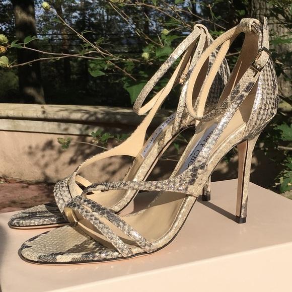 cfa9702eeaea Jimmy Choo Shimmer Snake Print Heels